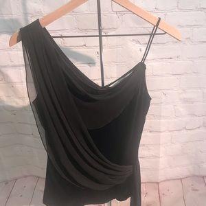 Diane Von Furstenberg black evening cami